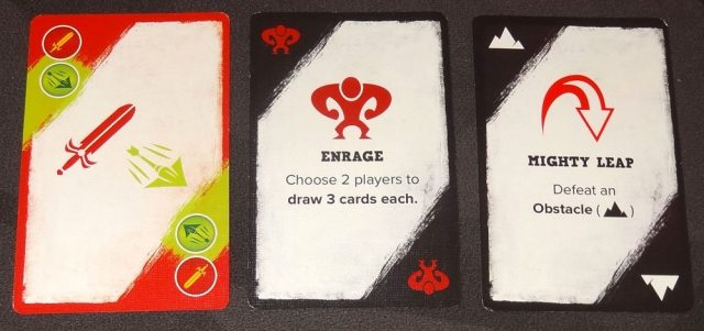 5-Minute Dungeon red hero cards