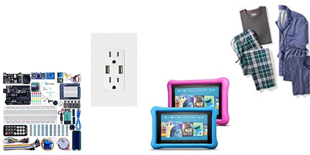 Geek Daily Deals Nov. 28, 2017: Arduino Starter Kit, USB Outlets, Kids Kindle 2-Pack, PJs for the Family