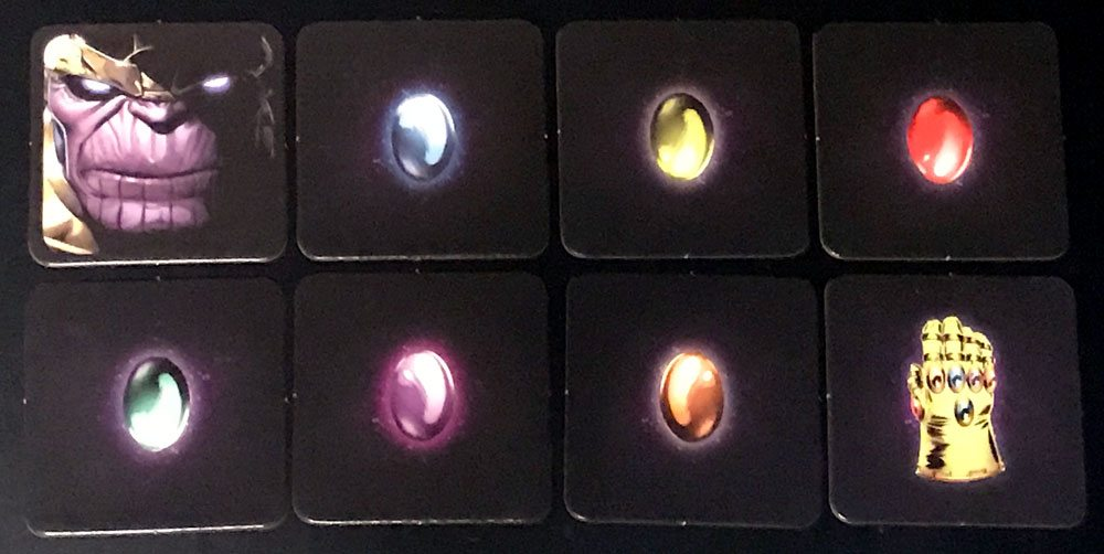 Codenames: Marvel infinity gem cards