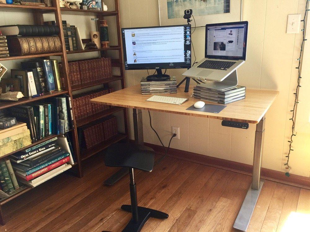 Jarvis Bamboo Adjustable Standing Desk; Best Desk I've Ever Used!