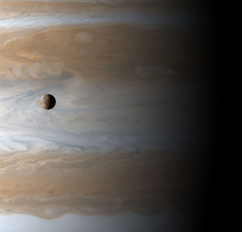 Io and Jupiter from The Planets