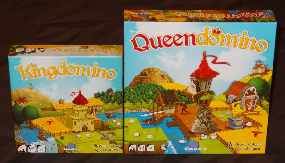 Queendomino and Kingdomino boxes