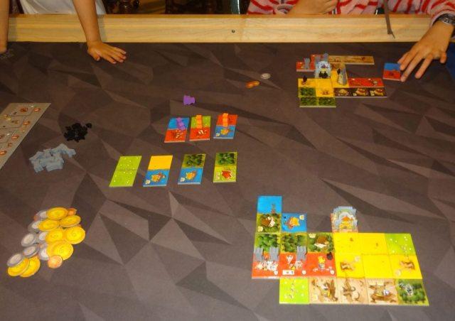Queendomino game in progress