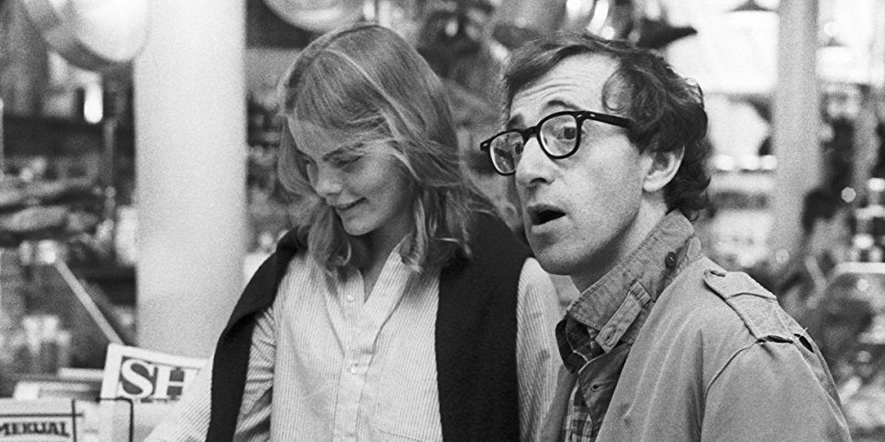 screen capture of monstrous man Woody Allen and Muriel Hemingway from Manhattan