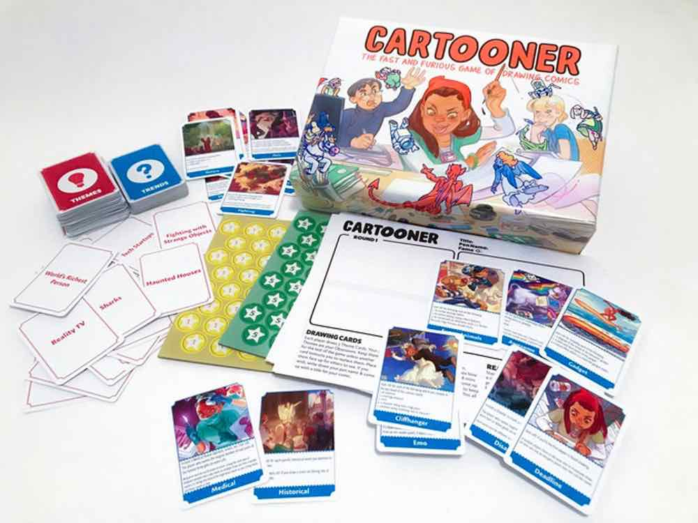 Kickstarter Tabletop Alert! 'Cartooner: The Fast and Furious Game of Drawing Comics'
