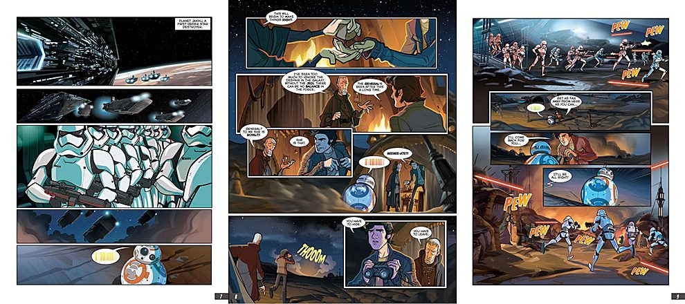 Opening Pages of The Force Awakens Graphic Novel, Images: IDW