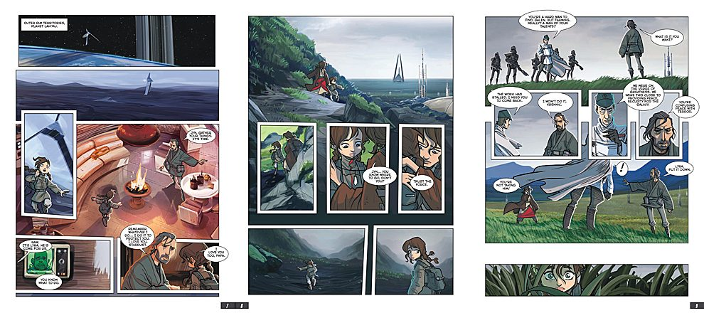 Opening Pages of The Rogue One Graphic Novel, Images: IDW