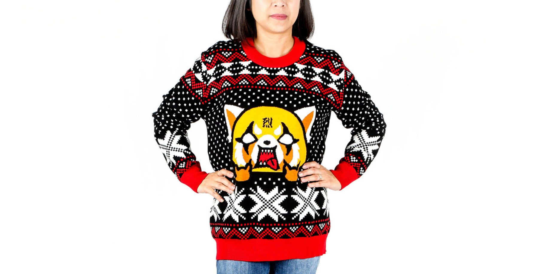 "Aggretsuko ""Ugly"" Sweater"