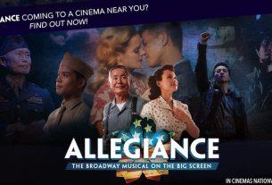 movie poster for Allegiance musical movie