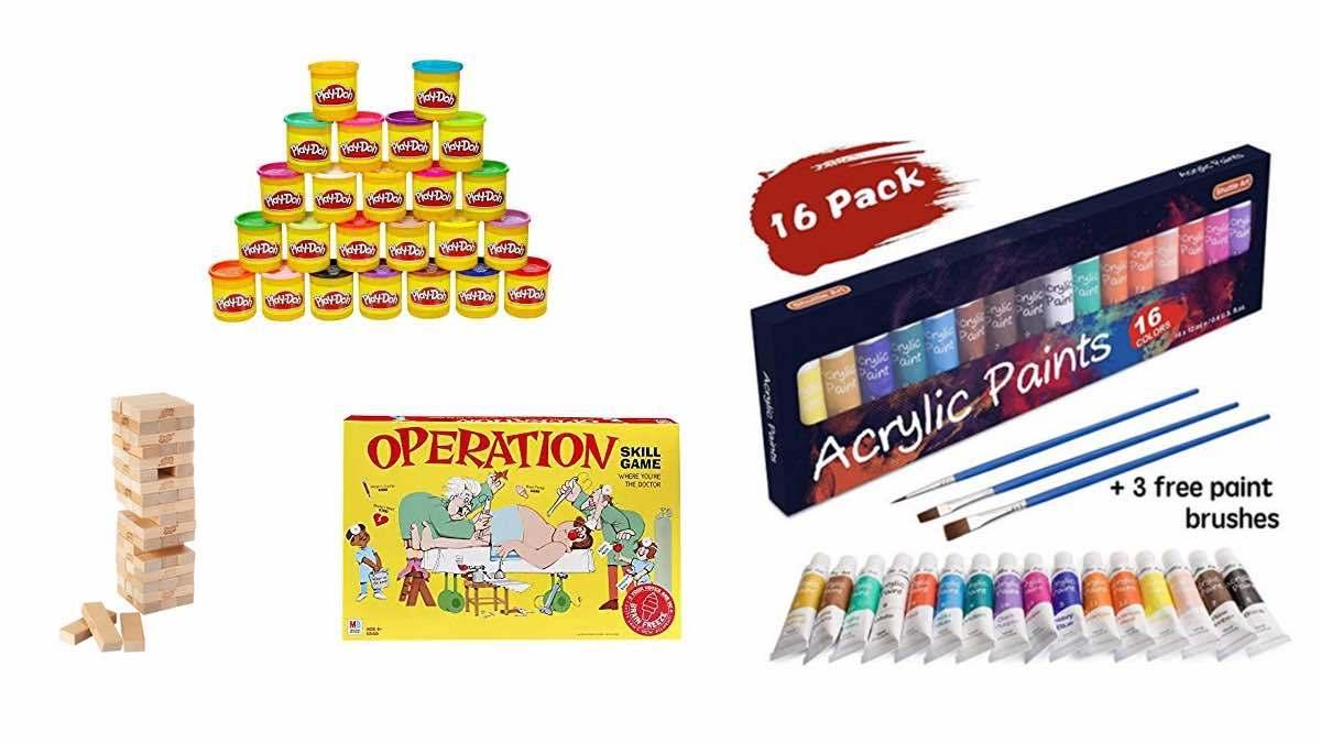 Geek Daily Deals 021218 operation jenga play-doh art supplies