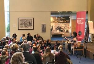 Portland Book Festival - LeUyen Pham reading to kids