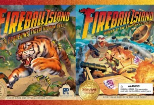 Fireball Island expansions covers