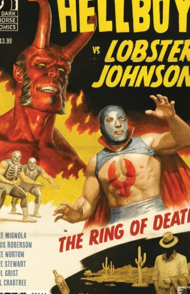 ′Hellboy vs. Lobster Johnson in: The ring of death′