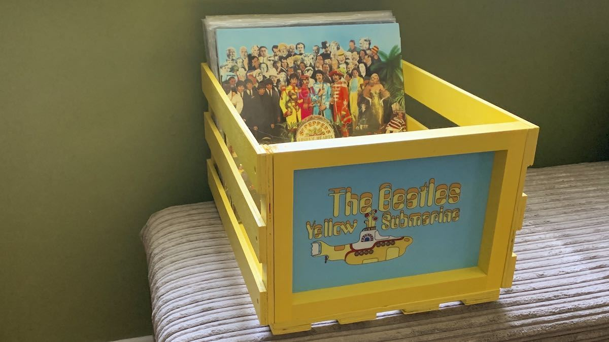Crosley Beatles record crate review