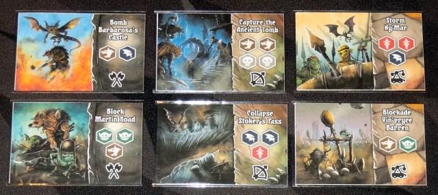Shadow Kingdoms of Valeria battle plan cards