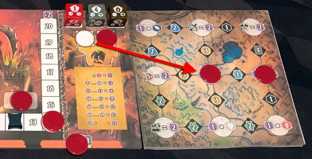 Shadow Kingdoms of Valeria moving conquest token