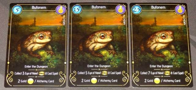 Lizard Wizard Bufonem familiar cards