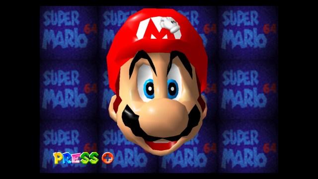 Super Mario 64 start screen
