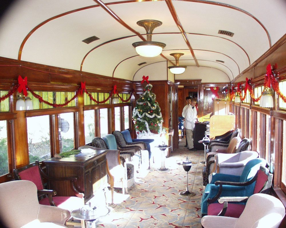 Dining Car Interior at the Western Railway Museum