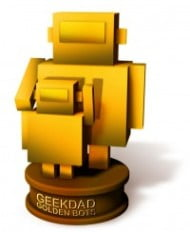GeekDad Golden Bots award