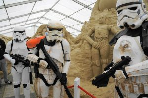 Some of the Dorset Troopers with sand Threepio (all photos copyright Sandworld)