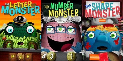 Wombi Monsters Teach Letters, Numbers, & Shapes to Pre-Schoolers