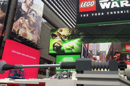 World's Largest Lego Model Unveiling in New York City's Times Square