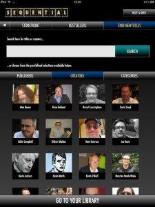 Sequential - Creators screen