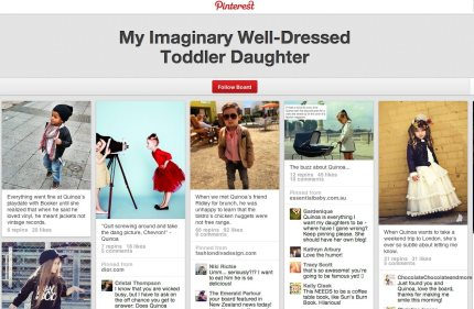 My Imaginary Well-Dressed Toddler Daughter