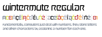 """Today Only:  Get the Cyber Punk Inspired """"Wintermute"""" Font for FREE!"""
