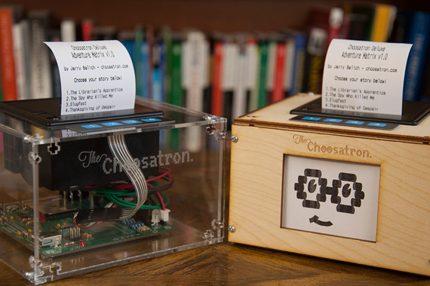 The Choosatron: Interactive Fiction Arcade Machine