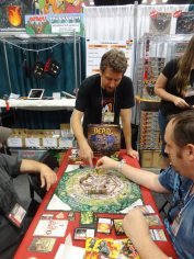Justin De Witt of Fireside Games demos his brand-new game, Dead Panic. Think Castle Panic, but with zombies. And a lot harder.