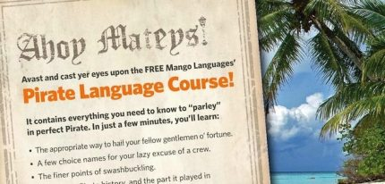 It's Official: Take a Course In Pirate