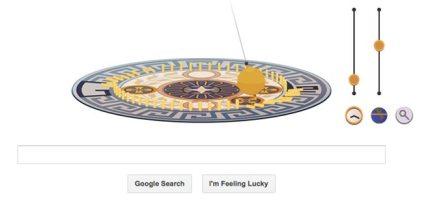 Google Doodle Celebrates Foucault's Pendulum