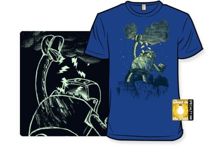 Squeeze This! A Glow-in-the-Dark Robot T-Shirt