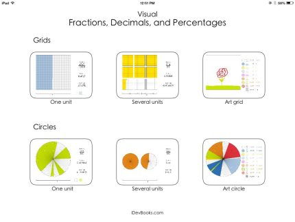 Play With Visual Fractions, Decimals, and Percentages on Your iPad