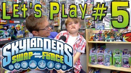 Mom, Dad, Son, Daughter, Friends Play Through Skylanders Swap Force