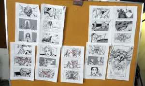 Monster of the Sky storyboard