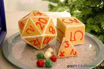 """Make Polyhedral """"Gingerbread"""" Dice for the Holidays"""