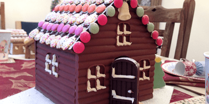 """Craft Your """"Gingerbread"""" House From Chocolate With Lakeland Molds"""