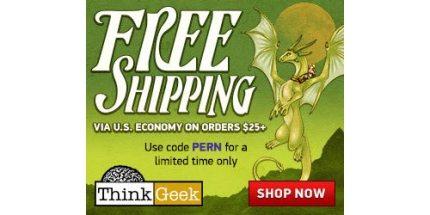 ThinkGeek's Free Shipping Offer Is No Joke