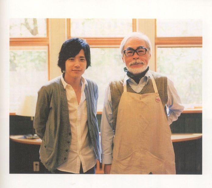 Ο Hayao Miyazaki με τον γιο του Goro