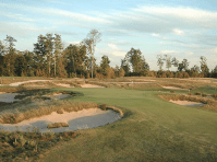 The bunkers surrounding the green leave no good place to bail out. Every tee shot at #2 is a hero shot.