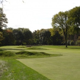 Old Elm #12 - After addition of Harry Colt designed hummocks, which add an element of strategy off the tee.