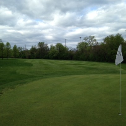 The fairway cut is gradually being expanded left and will ultimately reach the tree line.