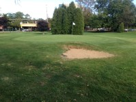 Front-left bunker on hole #2.