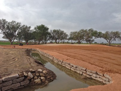 Channel construction at Rockwind Community Links