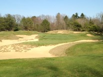 #3 - The green is set amidst a large, sandy low area