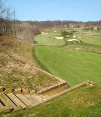 #12 - Stairs down from the new upper tee