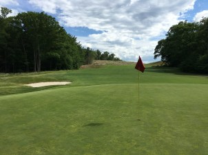 #12 - Par 4 - Green back toward the newly cleared hill